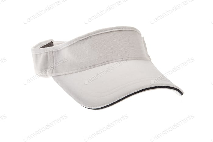 White golf visor for man or woman