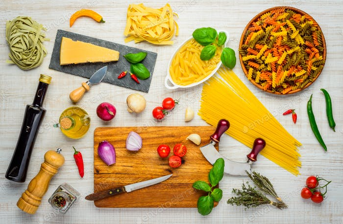Mediterranean Food and Cooking Ingredients and Cuisine