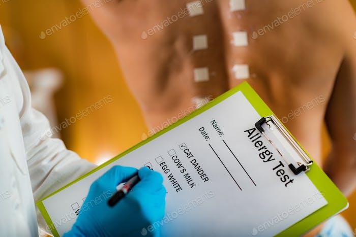 Allergie-Tests