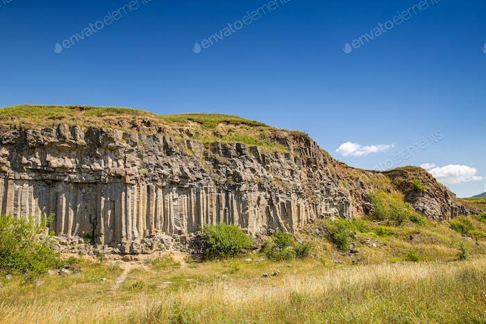Basalt column rock