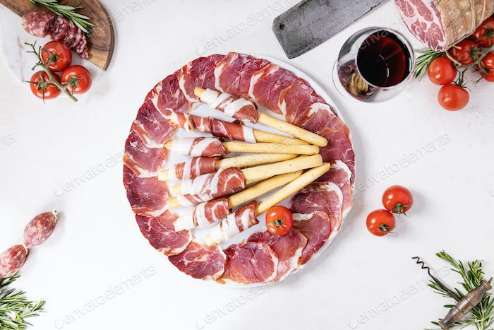 Selection of cured meat