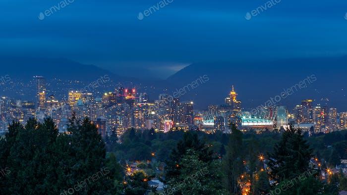 Vancouver Skyline at Dusk