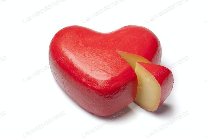 Heart shaped Gouda cheese