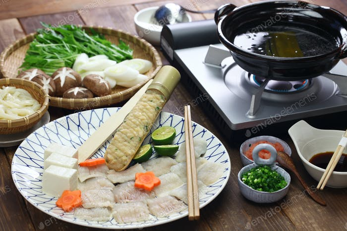 Hamo (Hecht Conger) shabu-Shabu, japanische Hot Pot Küche