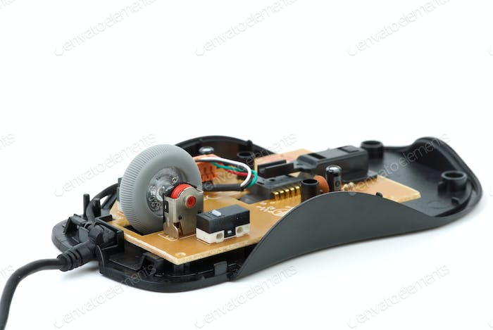 Disassembled  optical mouse