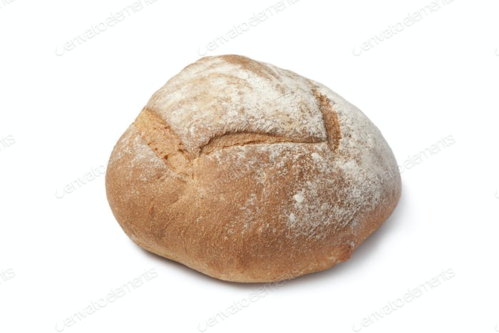 Whole fresh artisan loaf of bread