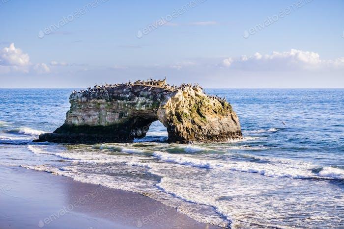 Rock arch, Natural bridges park, Santa Cruz, California