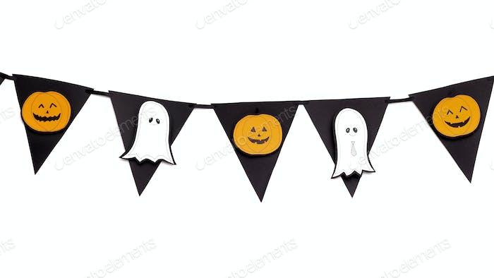 Halloween Dekorative Girlande mit Schnitt von Silhouetten