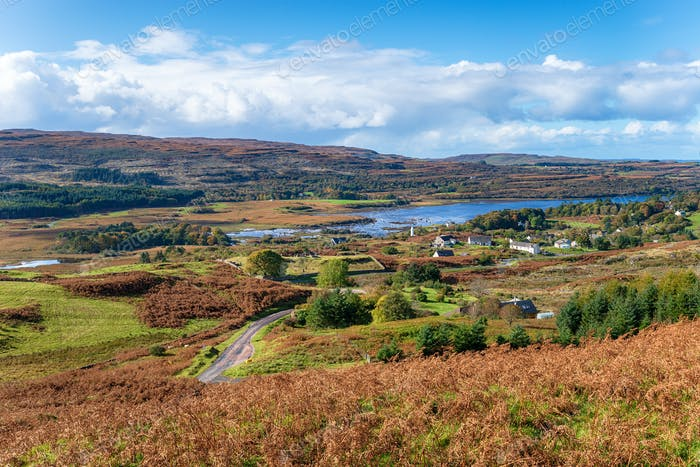 Dervaig on the Isle of Mull in Scotland
