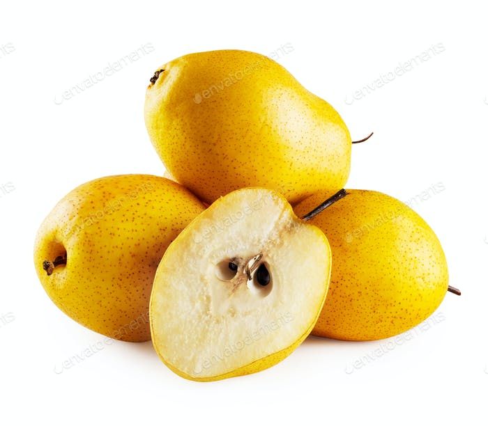 Three pears and half