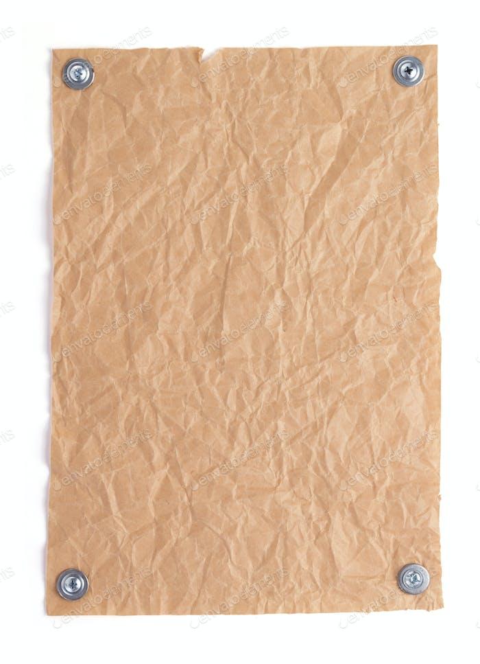 Blatt Papier mit leeren Seiten auf weißem Hintergrund
