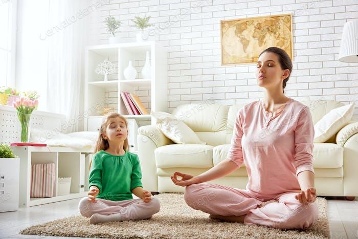 woman practice yoga