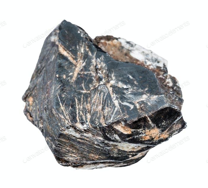 rauer Hämatitkristall isoliert auf weiß