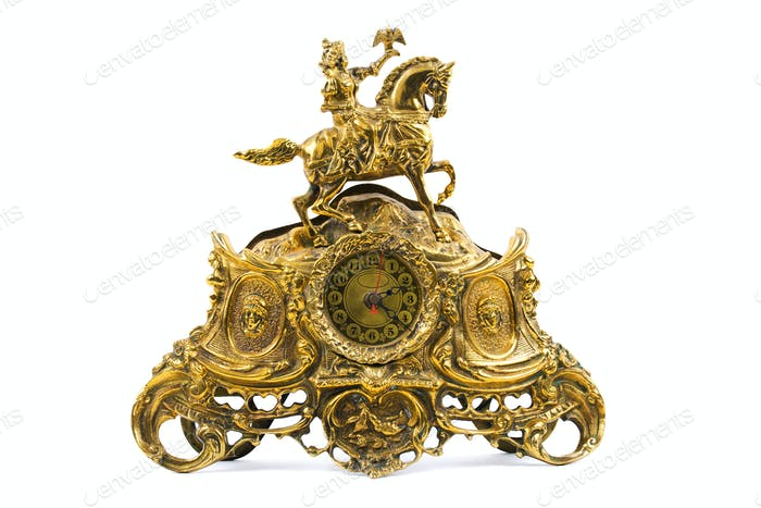 Old golden clock
