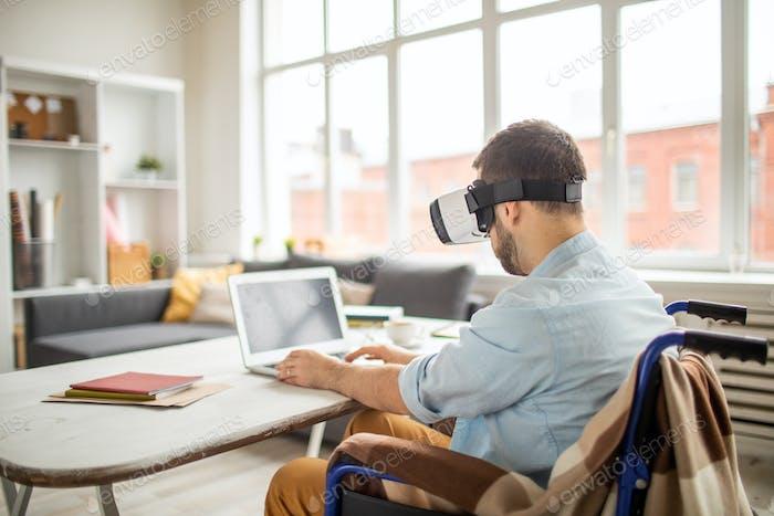 Deaktivieren Sie den Menschen in der virtuellen Realität