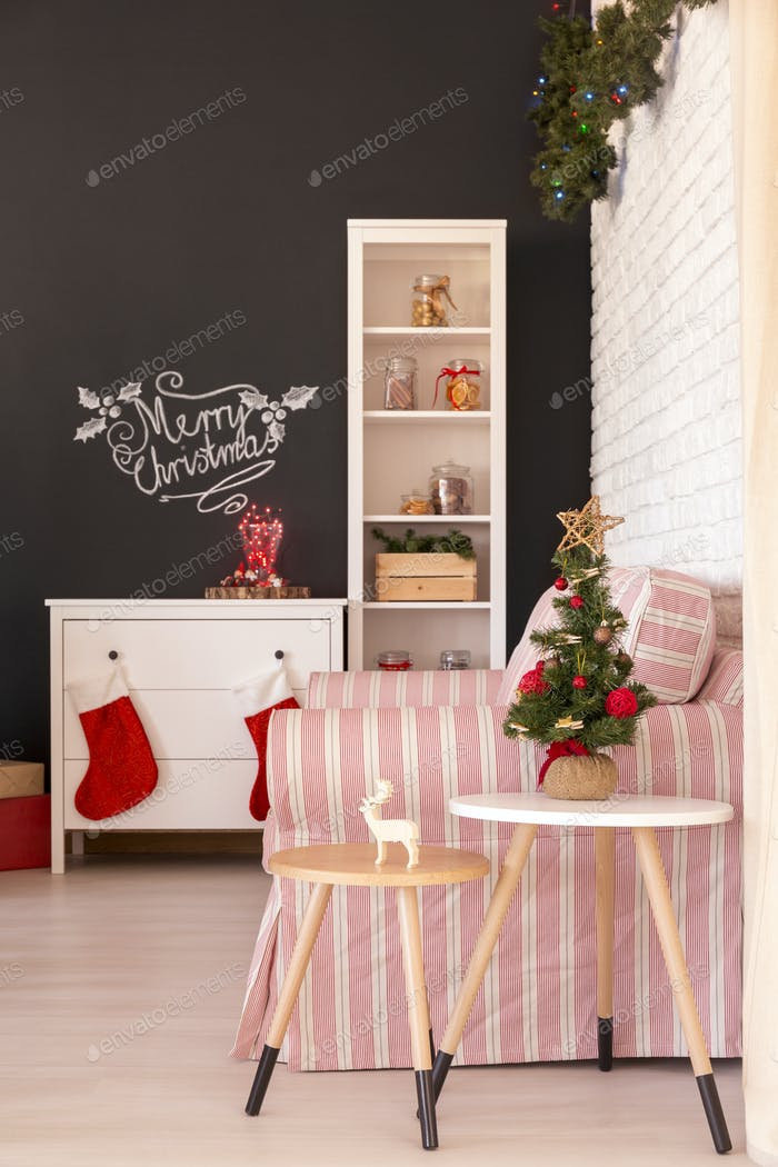Lounge prepared for christmas