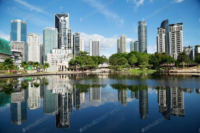 The KL City Centre Park in Kuala Lumpur, Malaysia