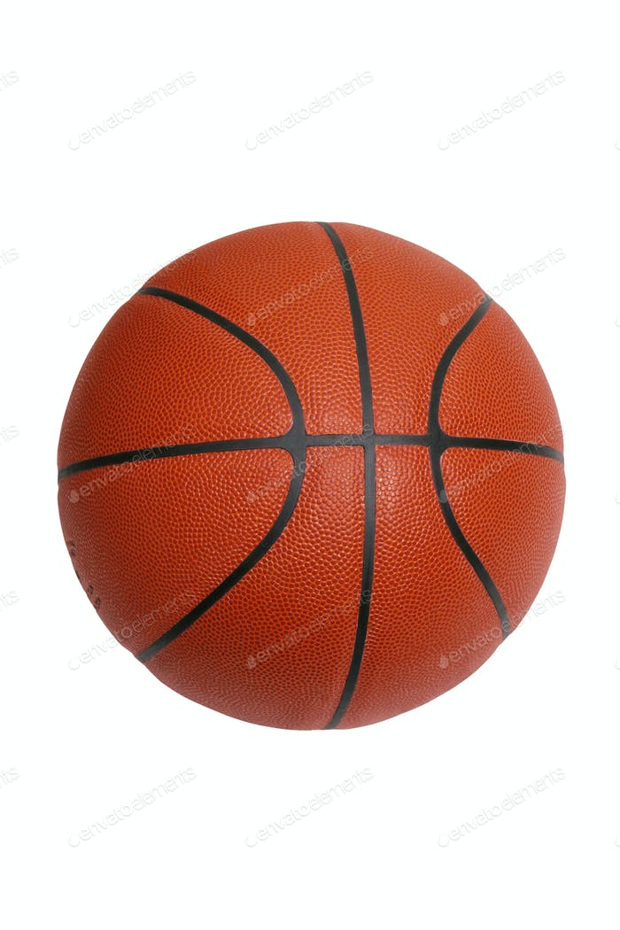 Basketball isolated on white background with clipping path