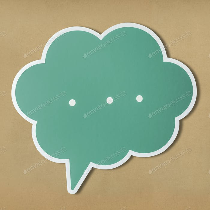 Speech bubble cut out icon