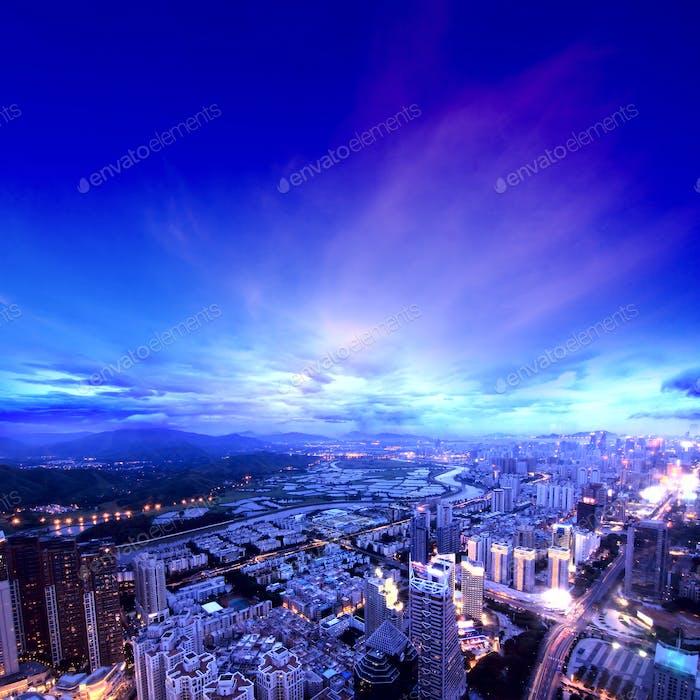 Luftaufnahme der Stadt
