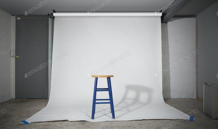 Simple stool on sweep in studio