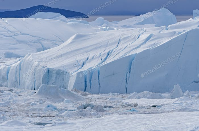 Close-up in the Ice of the Icefjord