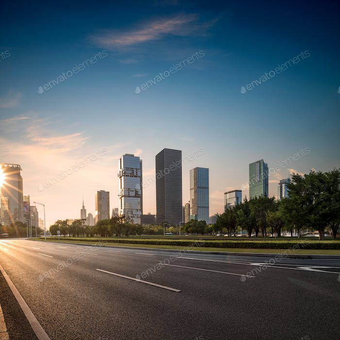 road and cities