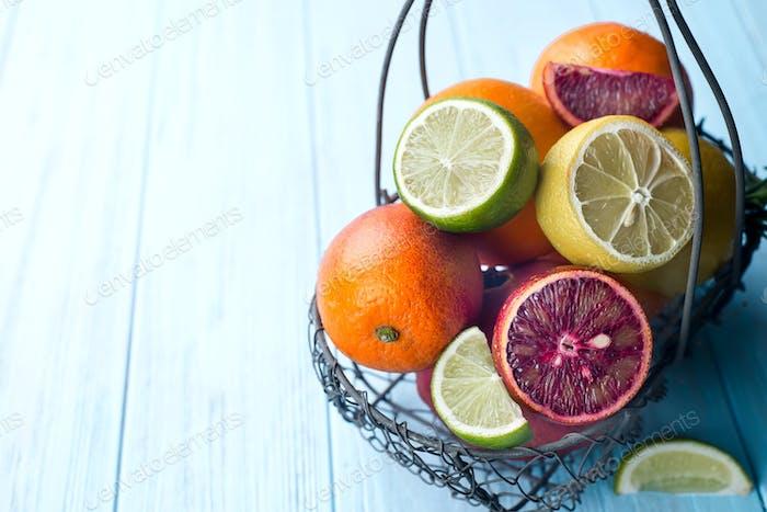Frische saftige Zitrusfrüchte