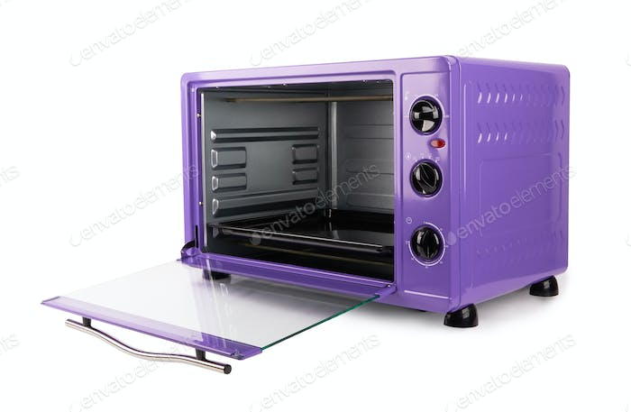 Kitchen purple oven