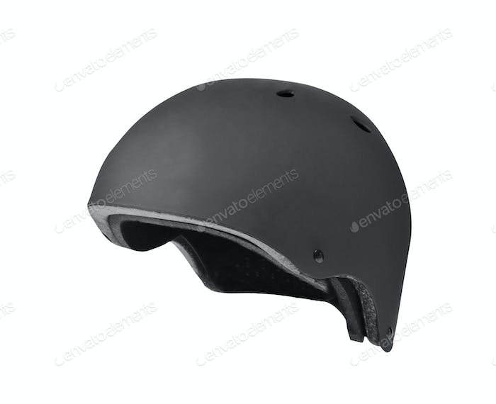 Black open face motorcycle helmet