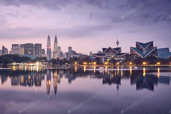 Moody sunrise in Kuala Lumpur