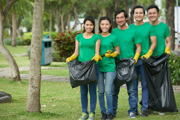 Green volunteers