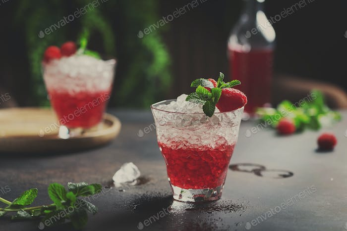 Gradient red cocktail