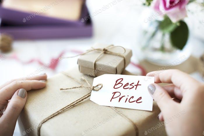 Mejor Precio Oferta Promoción Comercio Concepto de Marketing