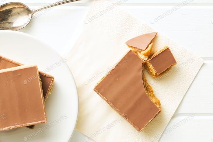 Sweet caramel dessert.