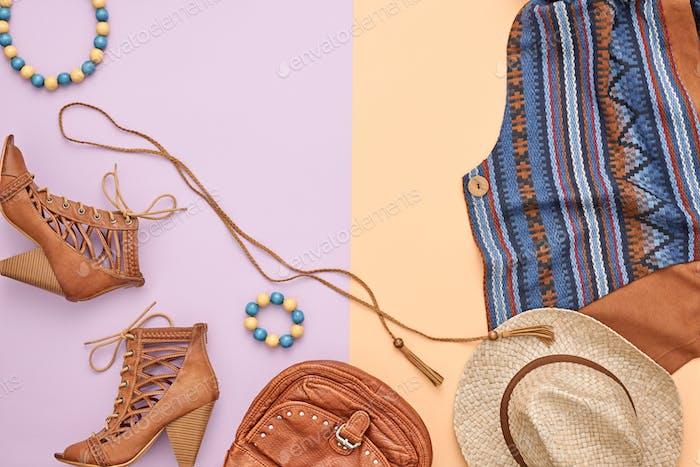 Cowboy-Stil. Sommer Mode Mädchen Kleidung Set