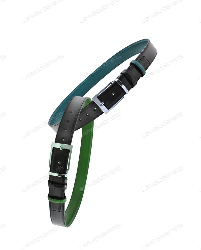 leather male belts isolated