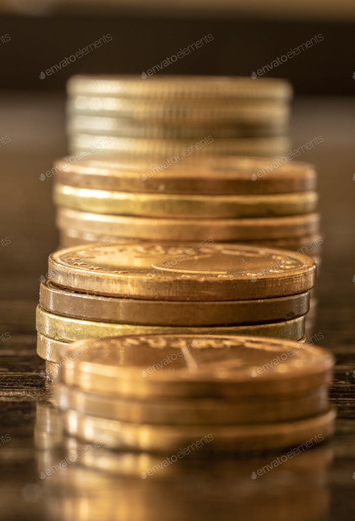 Münzen Stapel i
