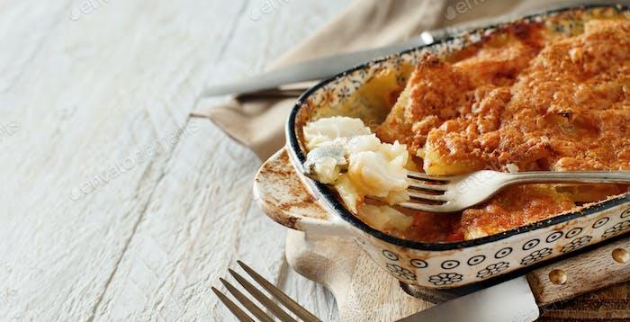 Codfish with potatoes