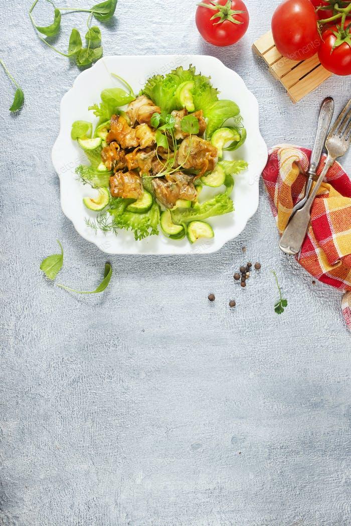 salad with rapana