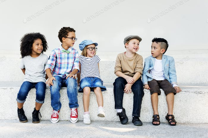 Kids Happiness Fun Smiling Children Concept