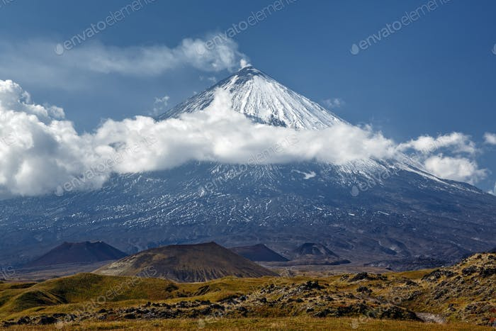 Klyuchevskoy Volcano (Klyuchevskaya Sopka) on Kamchatka - Highest Active Volcano of Eurasia