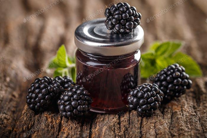 Tasty blackberry jam