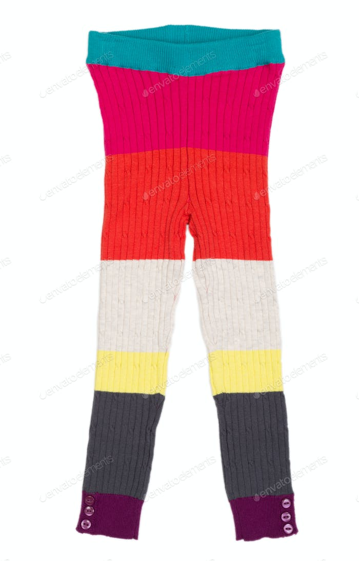 Children's knitted trousers