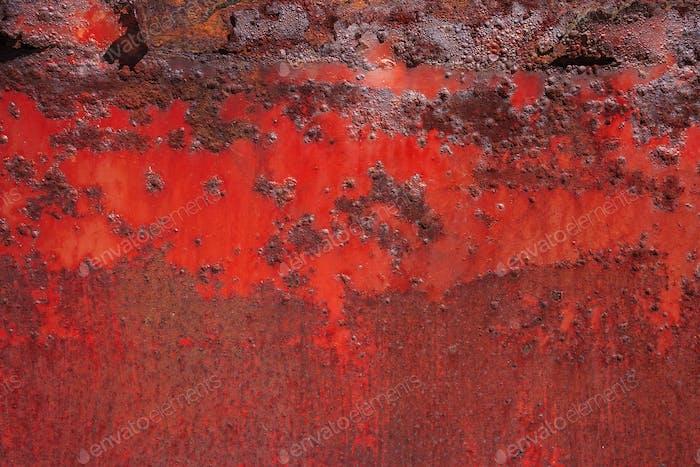 Detail von rostigem Metall