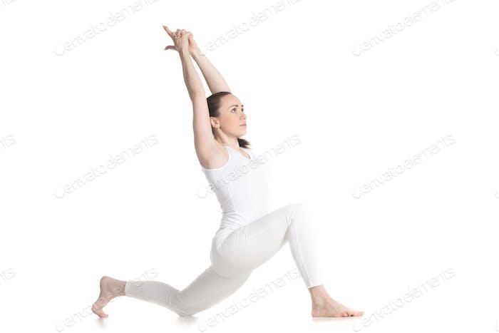 Equestrian yoga pose