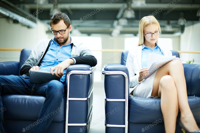 Working in arm-chairs