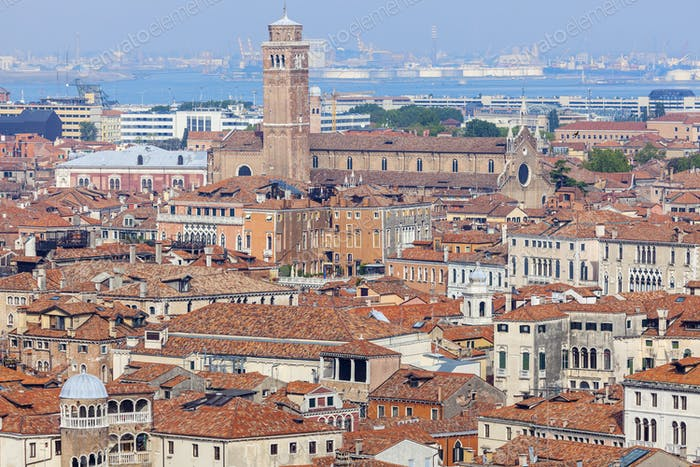 Luftpanorama von Venedig