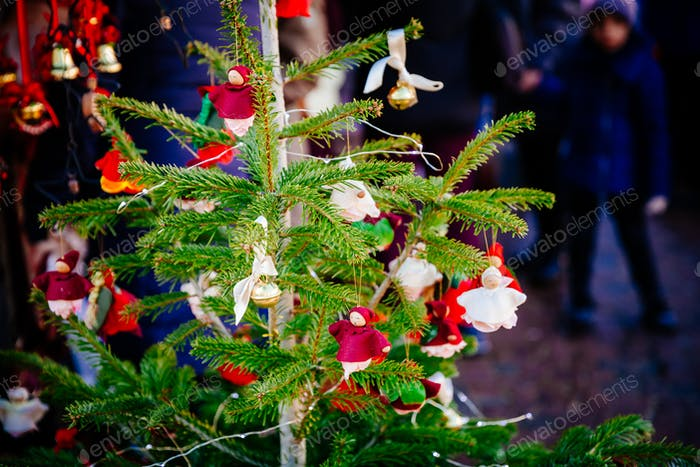 Christmas decorations on Trentino Alto Adige, Italy Christmas market