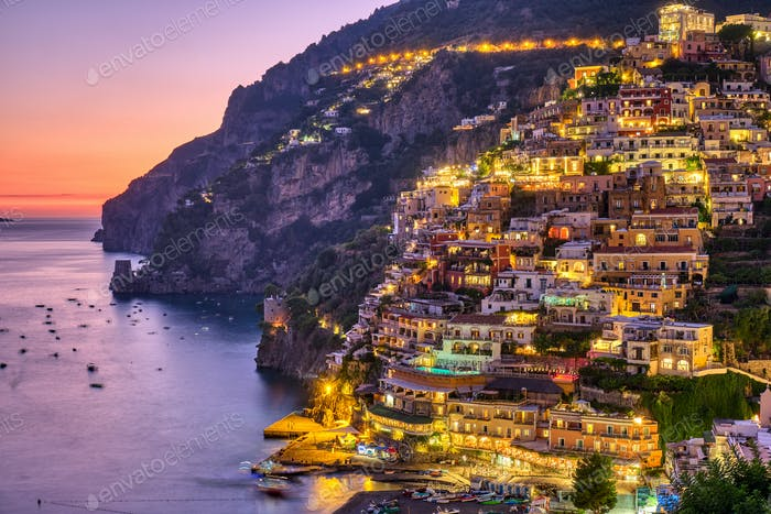 The famous village of Positano